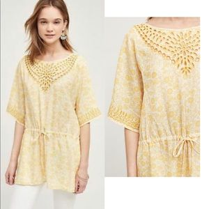 Anthro One September Euphemia Eyelet tunic Sz L